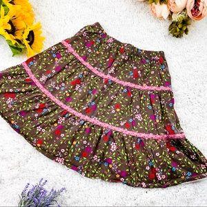 HANNA ANDERSSON Boho Floral Maxi Skirt | 140